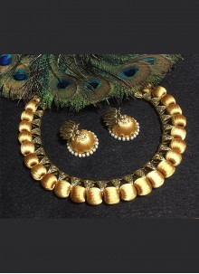 Gold Thread Party Necklace Set