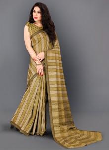 Gold Thread Work Manipuri Silk Trendy Saree
