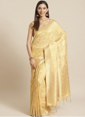 Gold Weaving Designer Saree