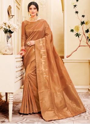 Gold Weaving Silk Classic Saree