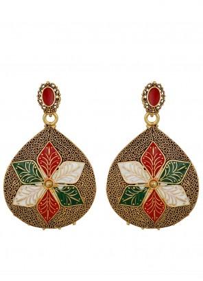 Gold Wedding Ear Rings