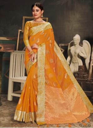 Gold Woven Designer Traditional Saree
