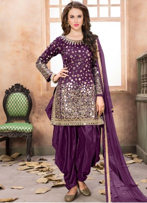 Graceful Lace Work Designer Patiala Suit
