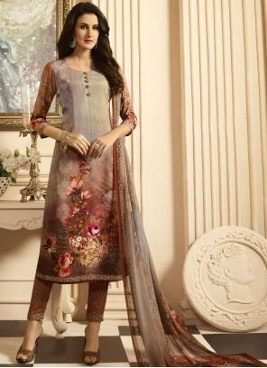 Graceful Print Work Designer Suit