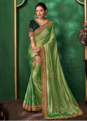 Green Art Silk Bollywood Saree