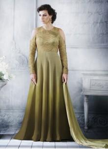 Green Art Silk Designer Salwar Suit