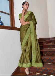 Green Art Silk Designer Traditional Saree