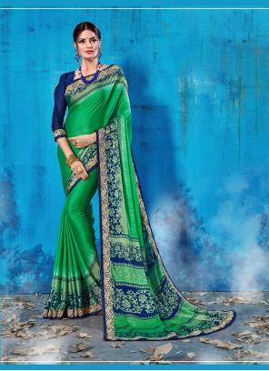 Green Art Silk Festival Designer Traditional Saree