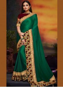Green Art Silk Festival Traditional Saree