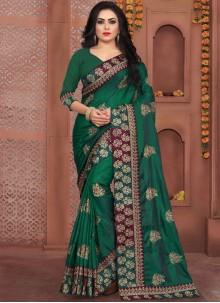 Green Art Silk Party Designer Traditional Saree