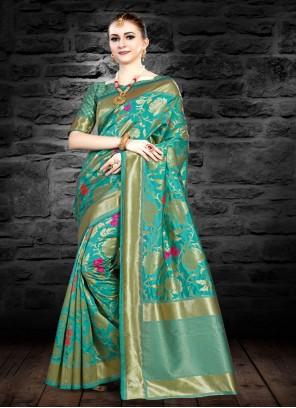 Green Art Silk Reception Classic Saree