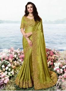 Green Art Silk Traditional Designer Saree