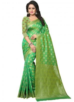 Green Art Silk Traditional Saree