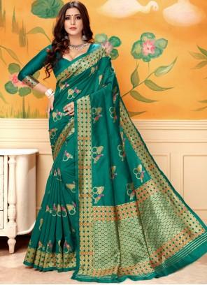 Green Art Silk Weaving Designer Traditional Saree