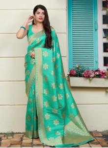 Green Art Silk Weaving Saree