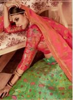Green Banarasi Silk Wedding Lehenga Choli