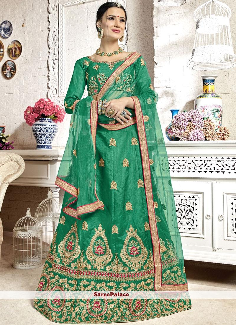 Green Banglori Silk Trendy Lehenga Choli