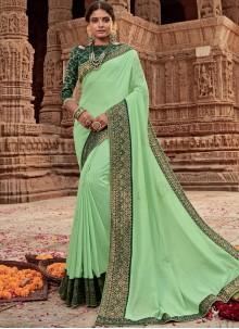 Green Border Designer Traditional Saree