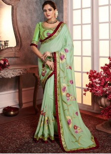 Green Border Wedding Designer Saree