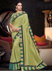 Green Bridal Art Silk Traditional Saree