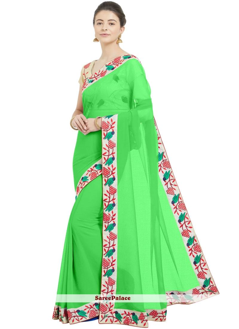 Green Casual Saree