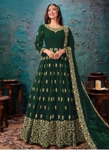 Green Ceremonial Anarkali Salwar Kameez