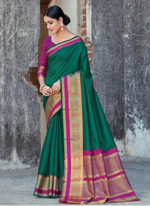 Green Ceremonial Classic Designer Saree