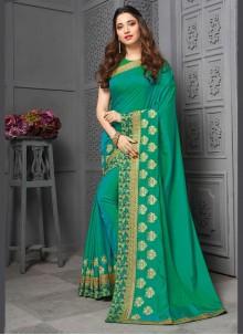 Green Ceremonial Contemporary Saree