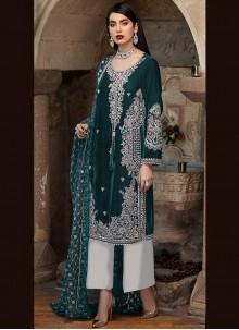Green Ceremonial Designer Pakistani Suit