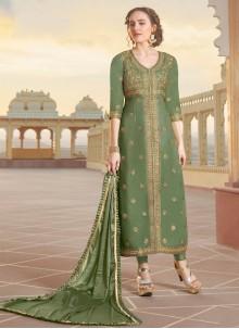 Green Ceremonial Designer Straight Suit