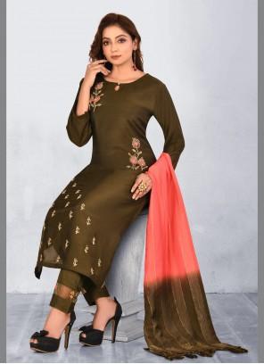 Green Ceremonial Muslin Designer Salwar Suit