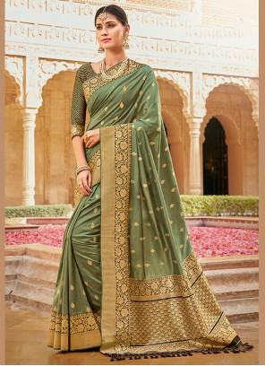 Green Ceremonial Silk Saree