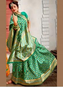 Green Ceremonial Traditional Saree