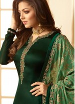 Green Churidar Designer Suit