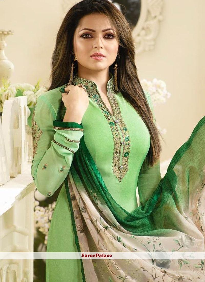 Green Churidar Salwar Suit
