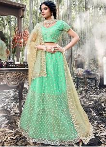Green Color A Line Lehenga Choli