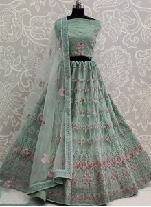 Green Color A Line Lehenga Choli