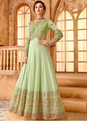 Green Color Anarkali Salwar Suit