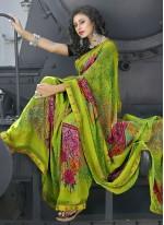 Green Color Casual Saree