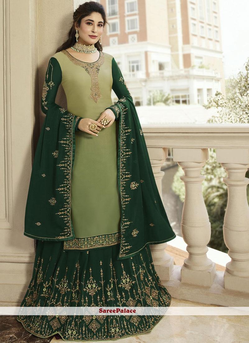 c50a62a635 Buy Green Color Designer Lehenga Choli Online