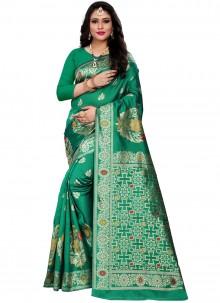 Green Color Traditional Saree