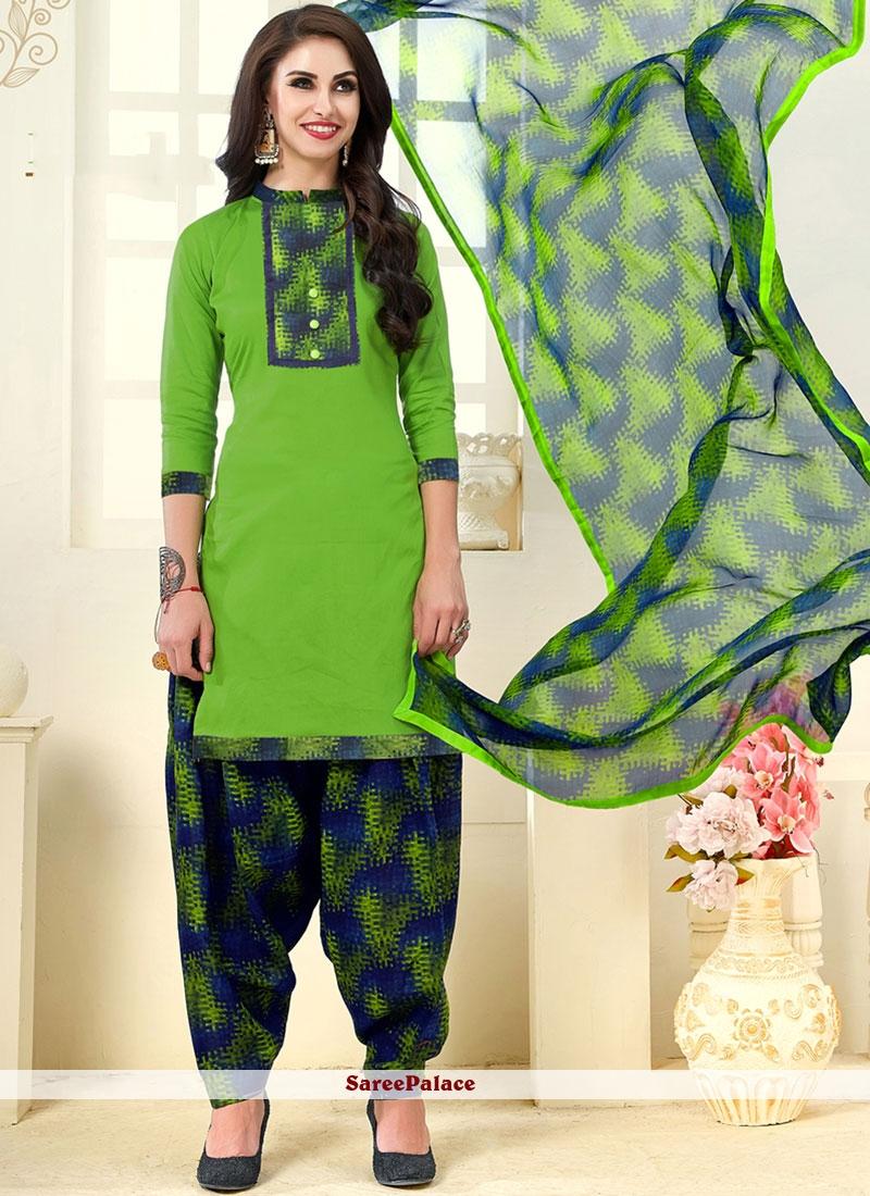 Buy Green Cotton Punjabi Suit Online New Punjabi Suit 2019