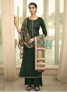 Green Designer Palazzo Salwar Kameez