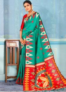 Green Designer Traditional Saree