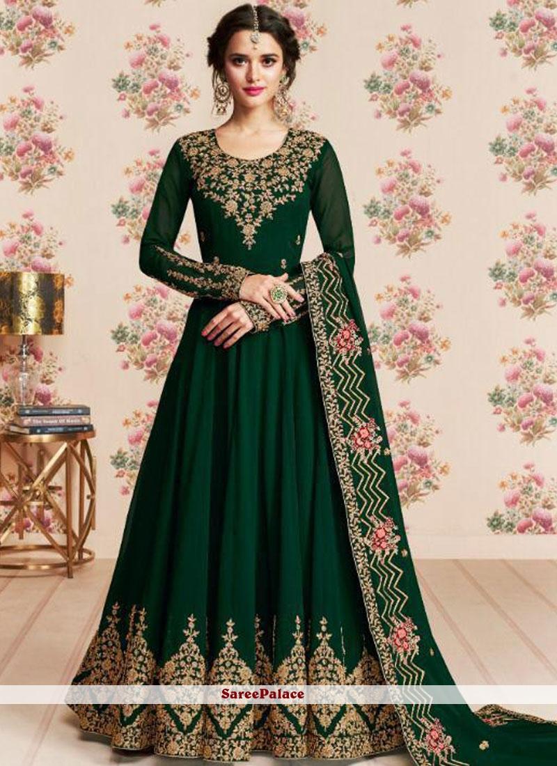Green Embroidered Anarkali Salwar Kameez