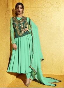 Green Embroidered Anarkali Salwar Suit