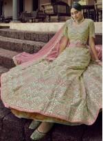 Green Embroidered Lehenga Choli