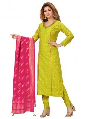 Green Embroidered Readymade Designer Salwar Suit