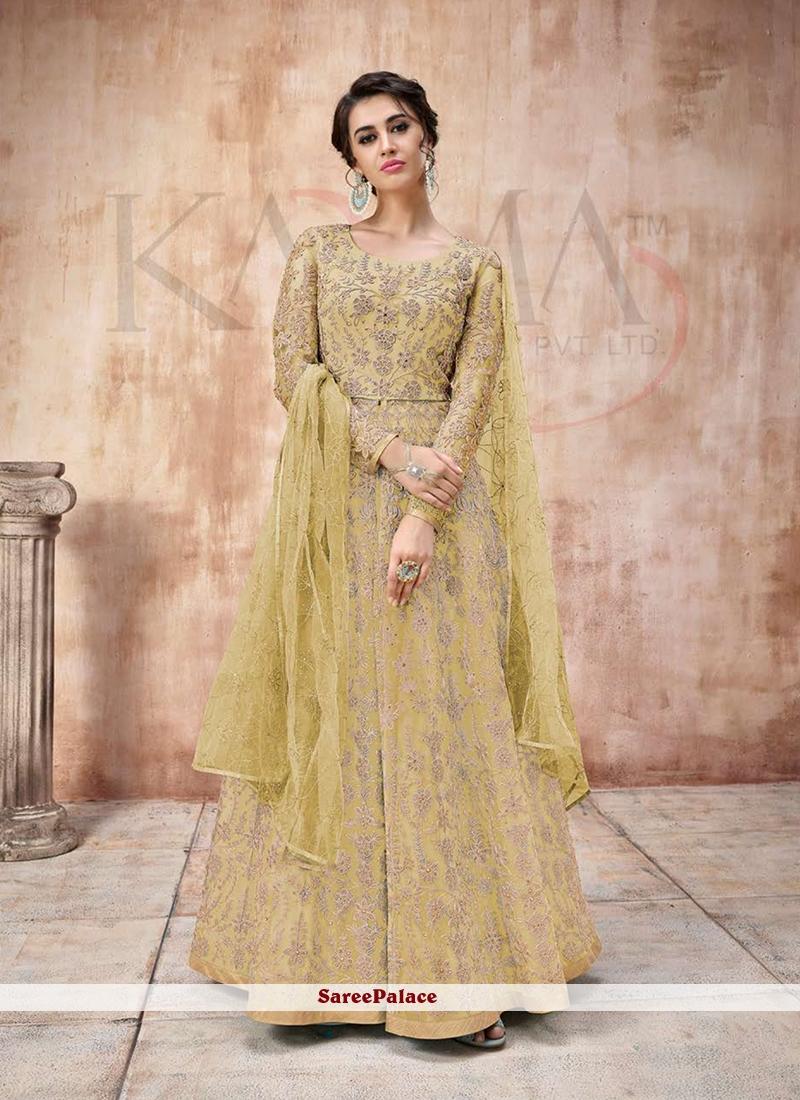 Green Embroidered Trendy A Line Lehenga Choli