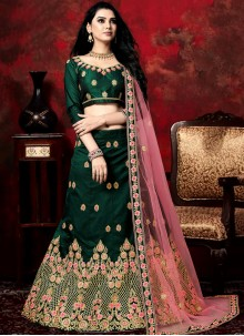 Green Embroidered Wedding Designer Lehenga Choli